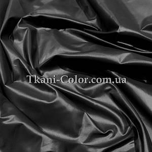 Плащевая ткань лаке черная