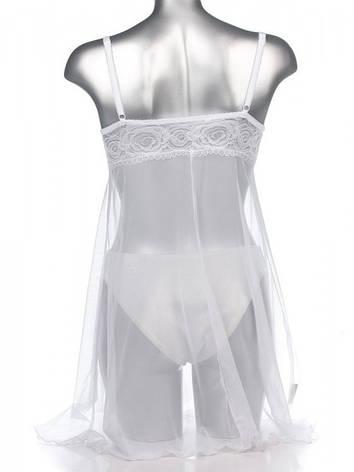 Ажурная белая ночная рубашка, фото 2