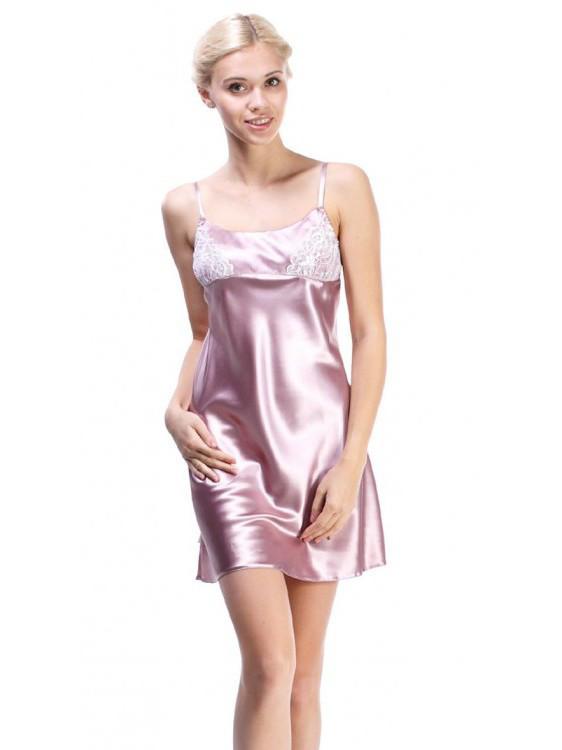 Женская нежно-лиловая ночная рубашка
