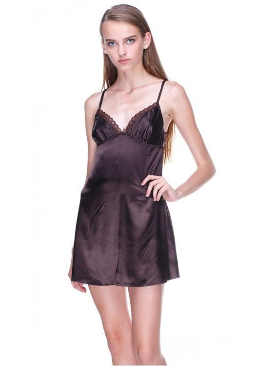 Женская сатиновая ночная рубашка