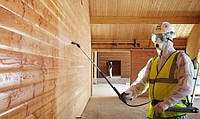 Обработка огнебиозащитными составами древесины и других поверхностей