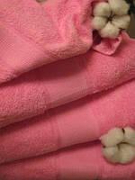 Махровое полотенце, 40*80, 100% хлопок, 500 гр/м2, Пакистан, Розовый
