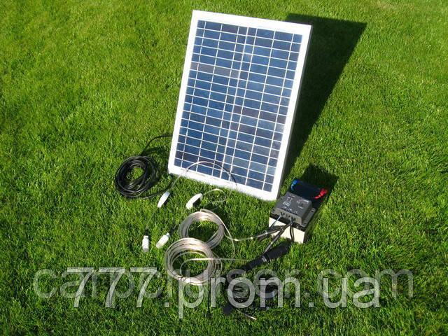 Походная Мини Электростанция на Солнечных Батареях 20W-12V, банк солнечной энергии, продажа в Украине