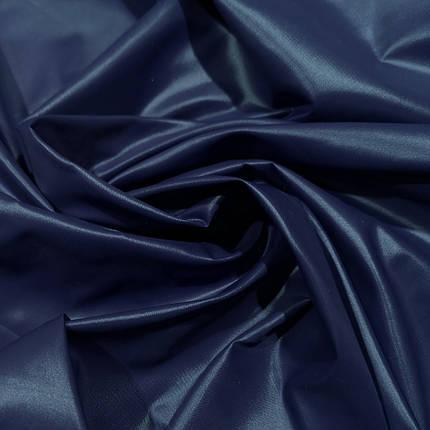 Плащевая ткань лаке темно- синяя, фото 2