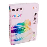 Бумага А4 Maestro Color OPI74 Flamingo нежно-розовый