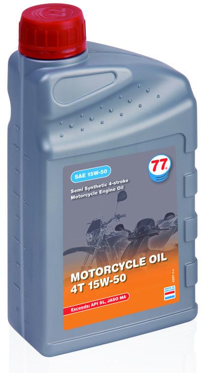 77 MOTORCYCLE OIL 4T 15W-50 полусинтетическое