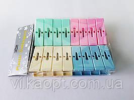 Прищепки пластмассовые из 16-ти 6,5 см