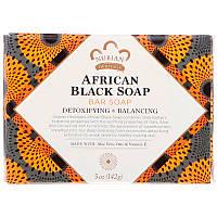 """Африканское черное мыло Nubian Heritage """"African Black Soap"""" кусковое, детокс и уход (142 г)"""