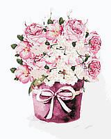 """Картина за номерами ArtStory """"Букет чайних троянд"""" в коробці 40*50см, AS0347"""