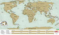 Скретч карта мира scratch world map на английском языке, Киев, фото 1