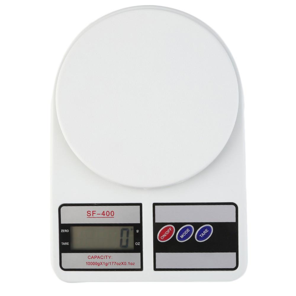 Электронные кухонные весы SF-400 с LCD-дисплеем на 10 кг + Батарейки