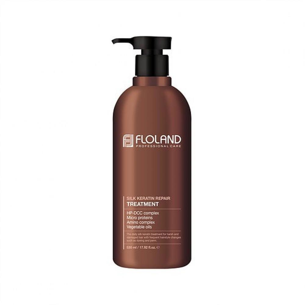 Восстанавливающая маска-бальзам для волос с кератиномFloland Premium Silk Keratin Treatment