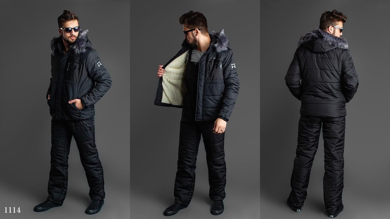 Костюм мужской горно-лыжный плащевка+200 синтепон 46,48,50,52
