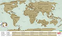 Скретч карта мира scratch world map на русском языке, Киев, фото 1