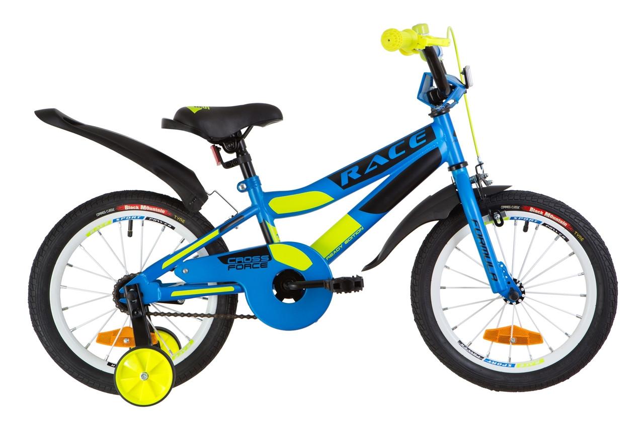 """Велосипед 16"""" Formula RACE усилен. St с крылом Pl 2019 (голубой с зеленым (м))"""