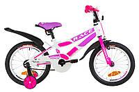 """Велосипед 16"""" Formula RACE усилен. St с крылом Pl 2019 (бело-малиновый с фиолетовым)"""