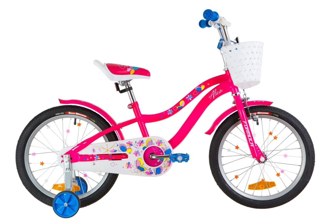 """Велосипед 18"""" Formula ALICIA 14G St с крылом St 2019 (розовый)"""