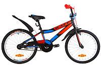 """Велосипед 20"""" Formula RACE усилен. St с крылом Pl 2019 (черно-оранжевый с синим (м))"""