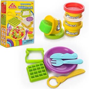 Тесто для лепки 6818-4 (48шт) 4цв(баноч, с крыш),аром, формоч2шт,посуда, инструмен, в кор,14-19-5см,