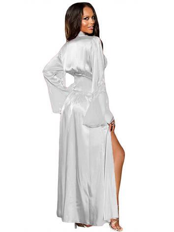 Белый длинный халат с рукавом, фото 2