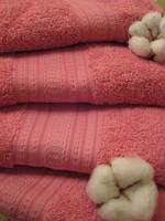 Махровое полотенце, 70*140, 100% хлопок, 500гр/м2, Пакистан, Абрикос