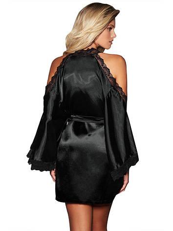 Женский черный халатик, фото 2