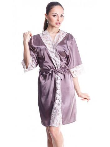 Летний женский халат с красивым гипюром, фото 2