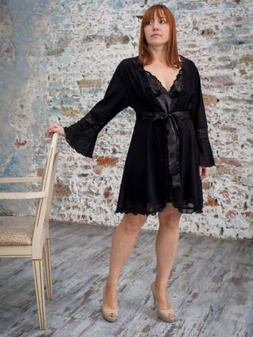Нежный ажурный женский халат, фото 2