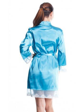 Яркий летний женский халат с гипюром, фото 2