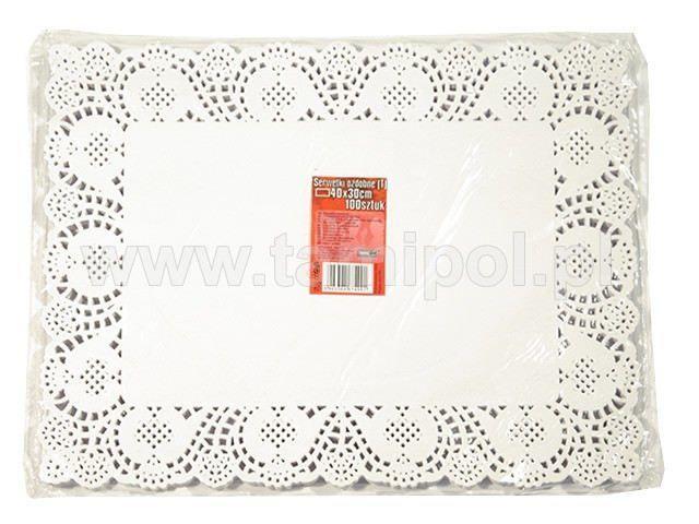 Салфетка кондитерская бумажная прямоугольная,  25*37 (100шт) (1 пач)