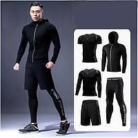 Чоловічий спортивний костюм  комплект  5 в 1 розмір L   EL Sports