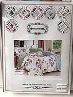 Комплект постельного белья БАЙКА (Фланель) евро размер с 4 наволочками