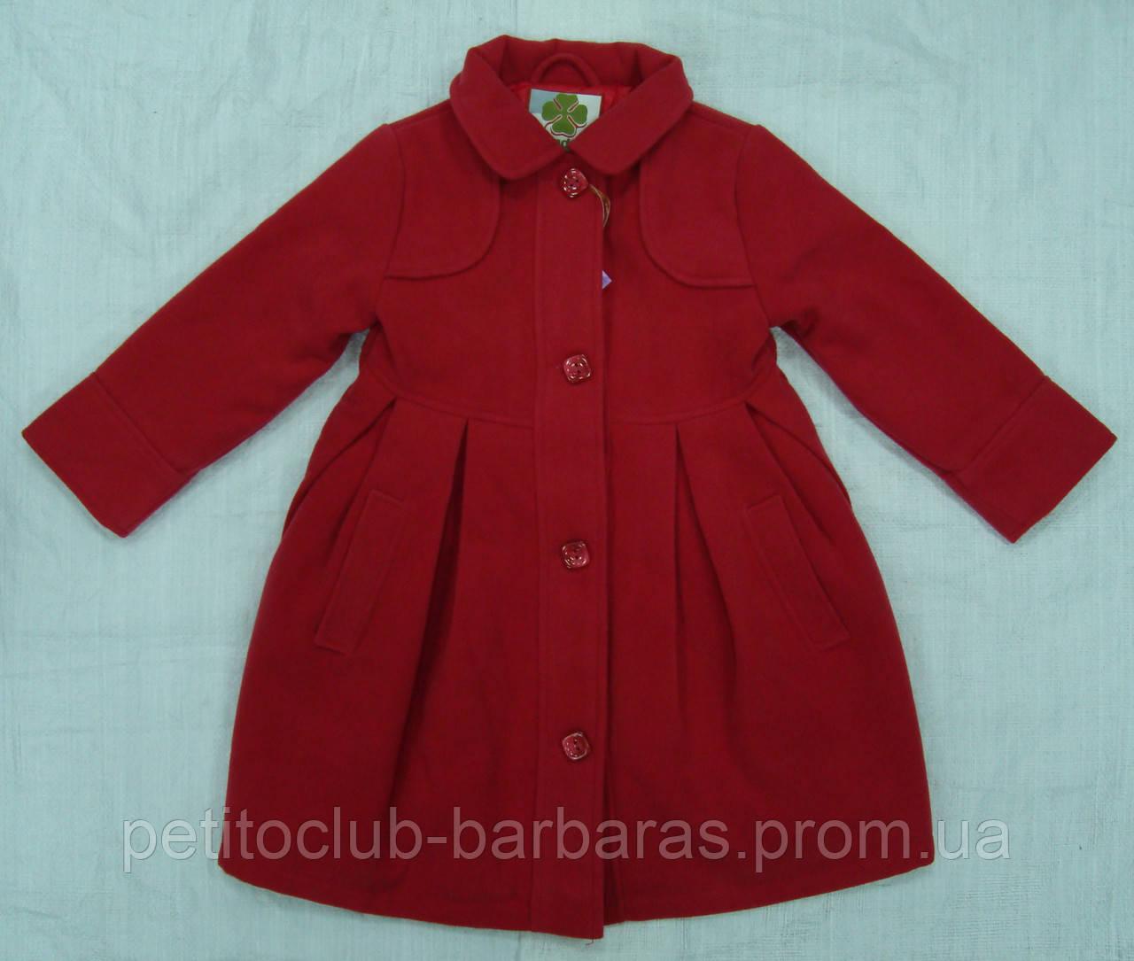 Пальто для девочки розовое (QuadriFoglio, Польша)
