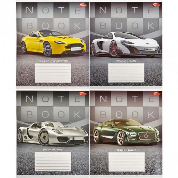 Тетрадь цветная 36 листов, линия «Престижные авто»      16 штук                    2119л