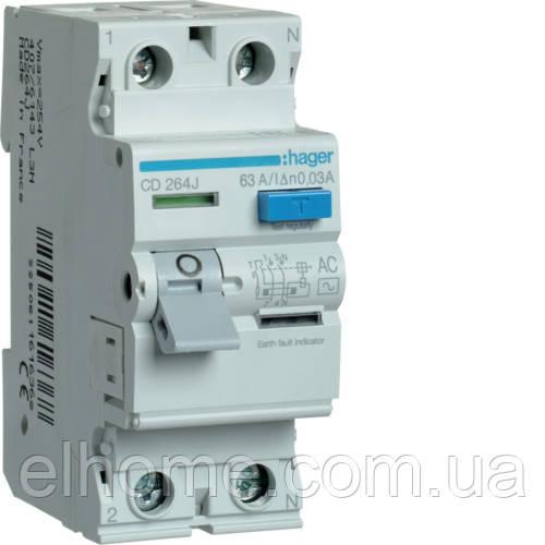 Пристрій захисного вимкнення 2P 63A 30mA AC