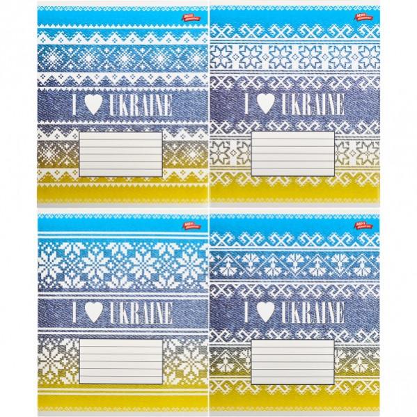 Тетрадь цветная 36 листов, линия «Я люблю Украину»              16 штук        2120л