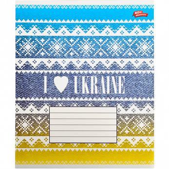 Тетрадь цветная 36 листов, линия «Я люблю Украину»              16 штук        2120л, фото 2