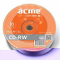 Диск MIX CD-RW 700Mb 4-12х Cake 10 d.002992