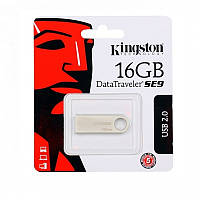 Флеш-память Kingston DataTraveler SE9 SilverChampagne 16GB чт.10зап.5 Мбайтсек