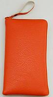 Чехол для телефона на змейке маленький оранжевый, фото 1