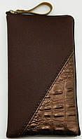 Чехол для телефона на змейке средний коричневый, фото 1