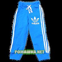 Детские спортивные штаны для мальчика р. 86-92 Adidas плотные ткань ФУТЕР ДВУХНИТКА 3469 Голубой 92