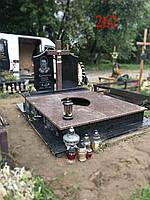 Памятник под будущее захоронение с крестом