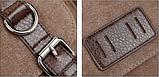 Велика чоловіча сумка коричнева мішковина, фото 4