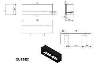 Биокамин QUEBEC черный,безопасный вкладыш, фото 2