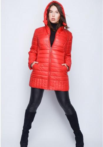 9c5fe4beea1 Купить Женская стеганая куртка (красный) 8520 Украина