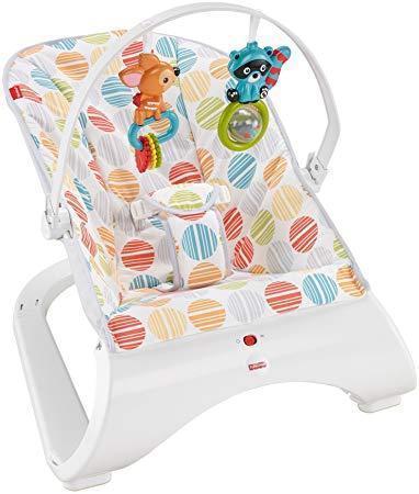 Детский массажный шезлонг, кресло Fisher-Price