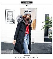Молодежная куртка зимняя,пуховик,парка,капюшон мех енота.