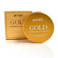 """Патчи для глаз Petitfee """"Gold Hydrogel Eye Patch"""" с золотым гидрогелем (60 шт)"""