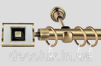 Карниз для штор металлический, однорядный 19 мм , Форма Антик